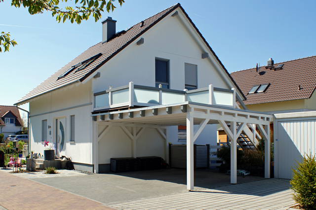 carport mit terrassendach haloring. Black Bedroom Furniture Sets. Home Design Ideas