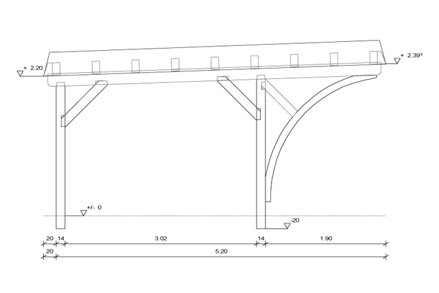 Woodwork carport autocad plans pdf plans for Carport plans pdf