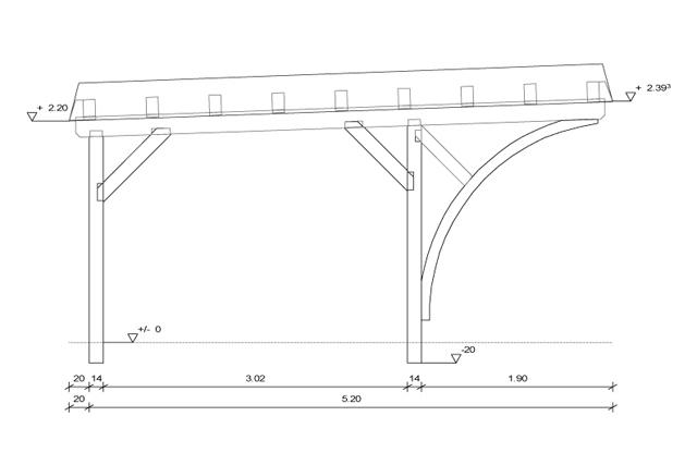 woodwork carport autocad plans pdf plans. Black Bedroom Furniture Sets. Home Design Ideas